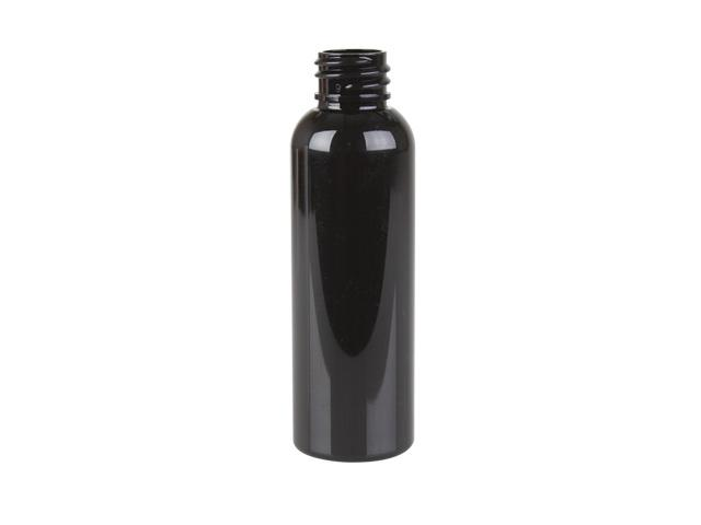 2 oz. Black 20-410 Opaque Plastic Plastic Bulletl Bottle