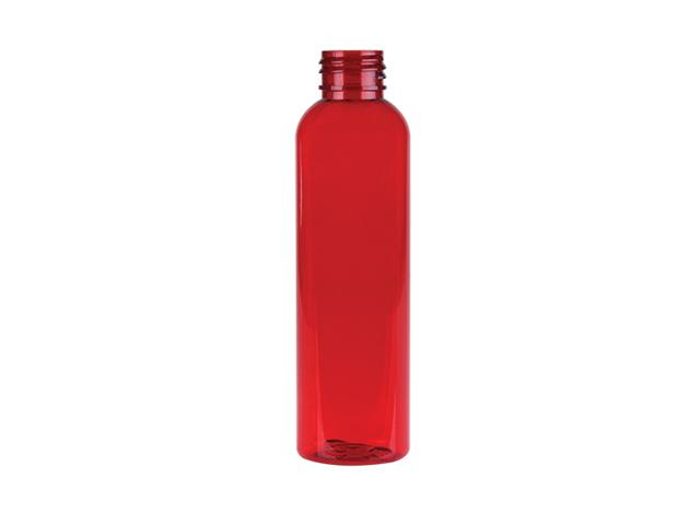 2 oz. Cranberry 20-410 Semi-Translucent Plastic Tapered Cosmo Oval Bottle (Stock Item)