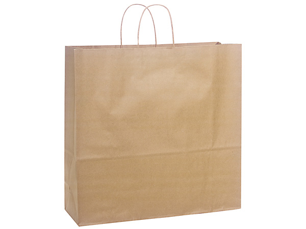 18 X 7 X 18.75 In. Kraft Jumbo Paper Gift Bag VOLUME DISCOUNTS
