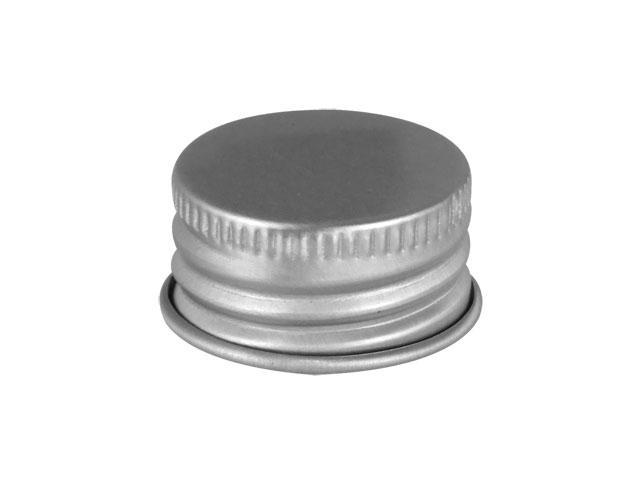 410 Silver Non Dispensing Metal Bottle Cap
