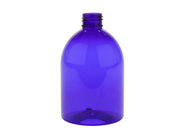 10 oz. Blue Dark Translucent 24-410 Round Bell PET Plastic Bottle w/ Silver Pump 40% OFF