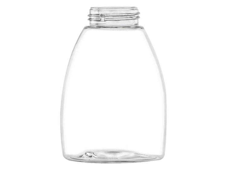 8 Oz Clear 40 Mm Squat Oval Plastic Pet Bpa Free Bottle