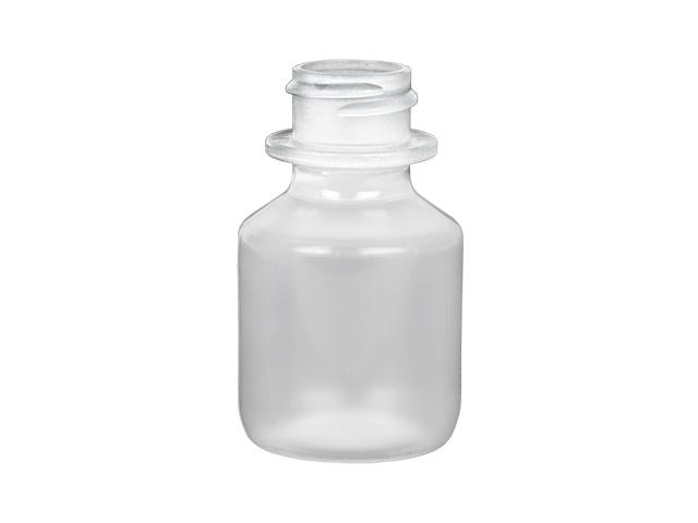 1 oz. Natural 22-400 Semi-Opaque Round PP Plastic Bottle with White Non Dispensing Cap (2 pc) 50% OFF