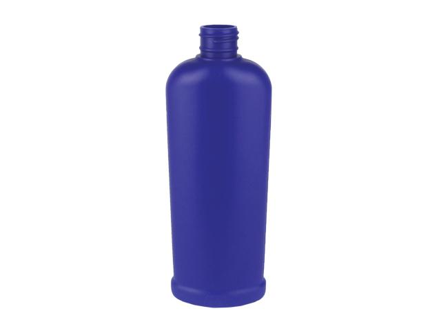 8 oz. Blue (dark) Opaque HDPE Reverse Tapered Footed Ribbed Oval 24-410 Plastic Bottle with Silver Dispensing Cap (2 pc ) 45% OFF