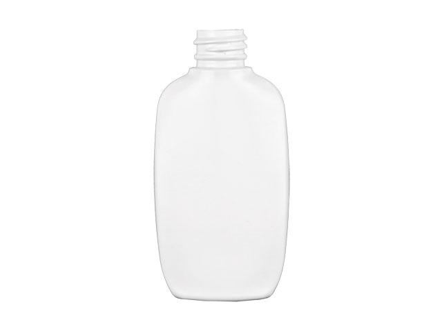 2 oz. White Opaque HDPE 20-410 Plastic Flat Sided Oval Bottle w/ Disc Top Dispensing Cap (2 pc) 50% OFF