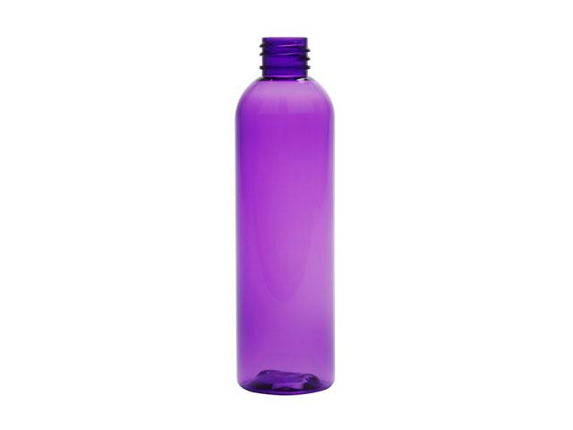 4 oz. Purple 20-410 PET (BPA Free) Plastic Bullet Round Bottle w/ Fine Mist Sprayer or Lotion Pump (2 pc.) 30% OFF (Stock Item)