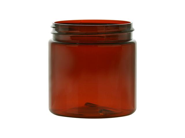 4 oz. Amber Dark Plastic Single Wall 58-400 PET Jar (Stock Item)