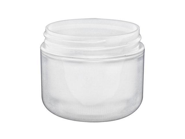 2 oz  Natural Plastic Double Wall 58-400 PP Jar (Stock Item)