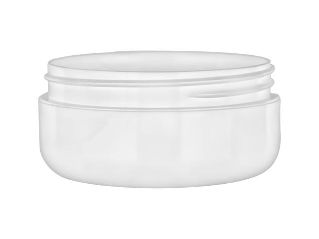 4 Oz White Plastic Low Profile Double Wall 89 400 Pp Jar