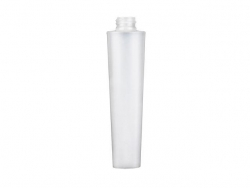 3.33 oz. Natural 22-410 Semi-Opaque Plastic 100 ml Tottle Bottle with Empress Style Dispensing Cap (2 pc)