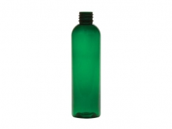 4 oz. Green 20-410 Semi-Translucent PET (BPA Free) Plastic Round Bullet Bottle