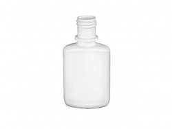 .67 oz. (2/3 oz) (20 ml) White LDPE 15-415 Plastic Drug Oval Bottle w/  Nasal Stream Dropper Tip & Cap  (3 pc. set)  35 % OFF