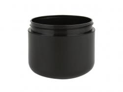 2 oz  Black Plastic Double Wall 58-400 PP Jar (Stock Item)