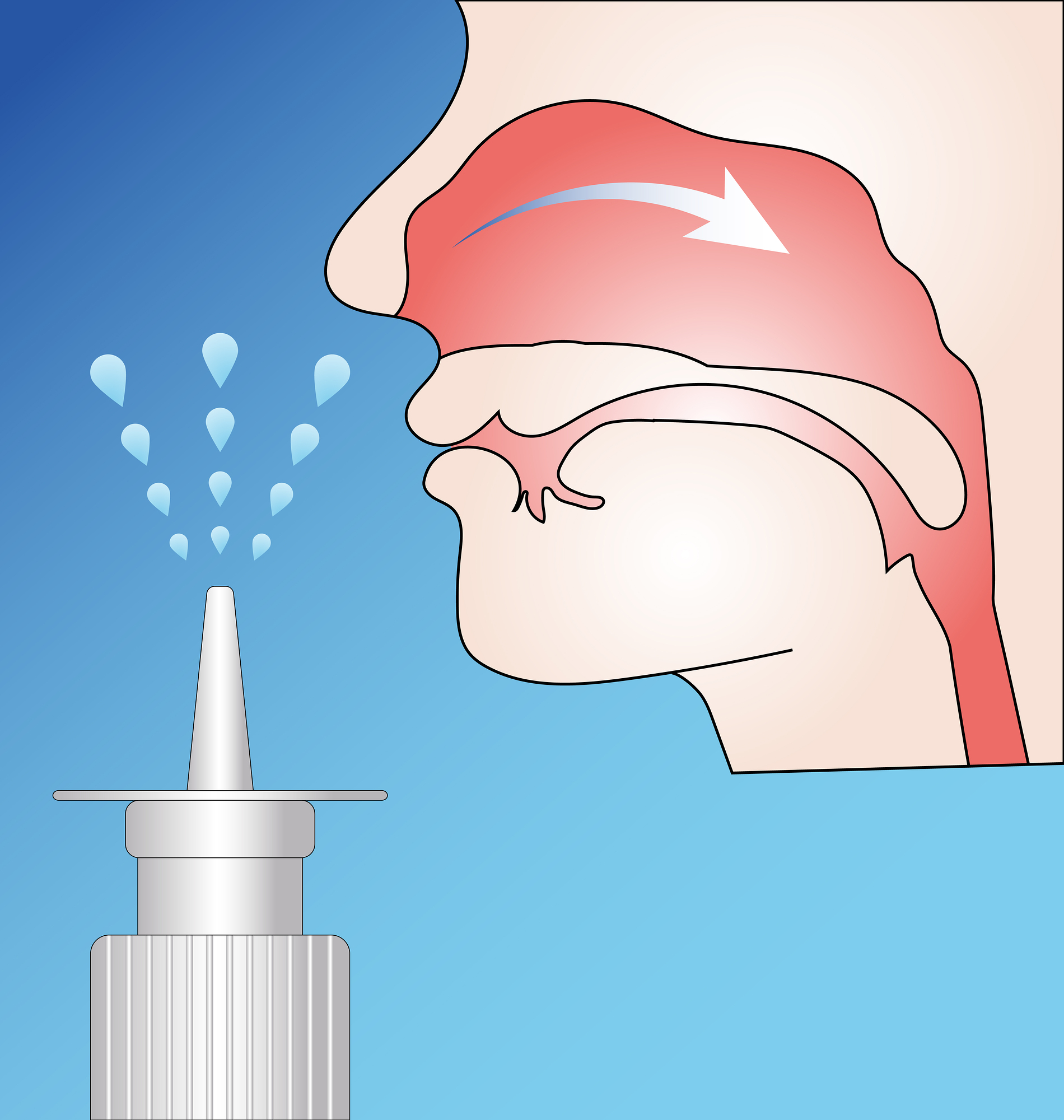plastic nasal spray bottle