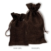 4x6 in. Brown Dark Burlap Bag w/ Draw Sting  (1 dz. to pk.)