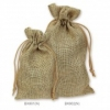 4x6 in. Natural Burlap Bag w/ Draw Sting  (1 dz. to pk.)