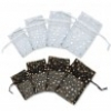 4x6 in. Mixed (Black-White) Organza Bag with Gold Dots (12 pk.)