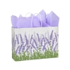 16 in.  x 6 in.  x 12 in.  Large (Vogue) Lavender Fields Paper Gift Bag 100% Recycled VOLUME DISCOUNTS