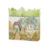 16 in.  x 6 in.  x 12 in.  Large (Vogue) Watercolor Gardens Paper Gift Bag 100% Recycled VOLUME DISCOUNTS