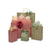 5.5 in.  x 3.25 in.  x 8 in. Gingham Checked Small (Rose) Paper Gift Bag Mix & Match for VOLUME DISCOUNTS