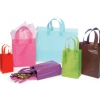 5.5 in. x 3.25 in. x 8 in. Small (Rose) Plastic Frosted Gift Bag in 6 Colors 100% Recycled Mix & Match for VOLUME DISCOUNTS