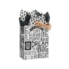 8 in. x 4.75 in. x 10 in. Medium (Cub) Chalkboard Sentiments Paper Gift Bag 100% Recycled VOLUME DISCOUNTS