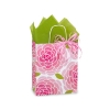 8 in. x 4.75 in. x 10 in. Medium (Cub) Rose Blossoms Paper Gift Bag 100% Recycled VOLUME DISCOUNTS