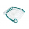 Clear PVC Bag with Teal Trim & White Zipper VOLUME DISCOUNTS