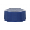 20-400 Blue Non Dispensing Ribbed Bottle Cap w/ Stipple Top & F-217 Liner