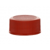 20-400 Red Non dispensing Ribbed Bottle Cap w/ Stipple Top & F-217 Liner