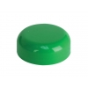 38mm Green Non Dispensing Plastic Dome Bottle Cap w/ Plug Seal