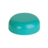 38mm Green Teal Non Dispensing Plastic Dome Bottle Cap w/ Plug Seal