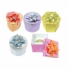 12 Shiny Metallic Paper Hat Boxes w/ 12 Lids  VOLUME DISCOUNTS!