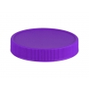 53-400 Violet Flat Ribbed PP Plastic Non Dispensing Jar Cap w/ Matte Top-Stacking Ring & Liner-less