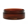 4 oz. Amber Dark Low Profile Thick Wall Square Based 89-400 Round  PET Plastic Jar with w/ Cap 40% OFF