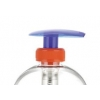 28-400  Blue-Orange Translucent Plastic Lotion Pump w/ Lock-Up Palm Head, 1.5 cc Output & 4 7/8 in. dip tube  60% OFF
