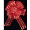 25 yd. spool of 1 1/2 in.  Red/Gold HAPPY VALENTINES DAY Printed Organza Ribbon  40% OFF
