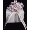25 yd. spool of 5/8  in.  White/Red My Favorite Valentine Satin Ribbon 40% OFF